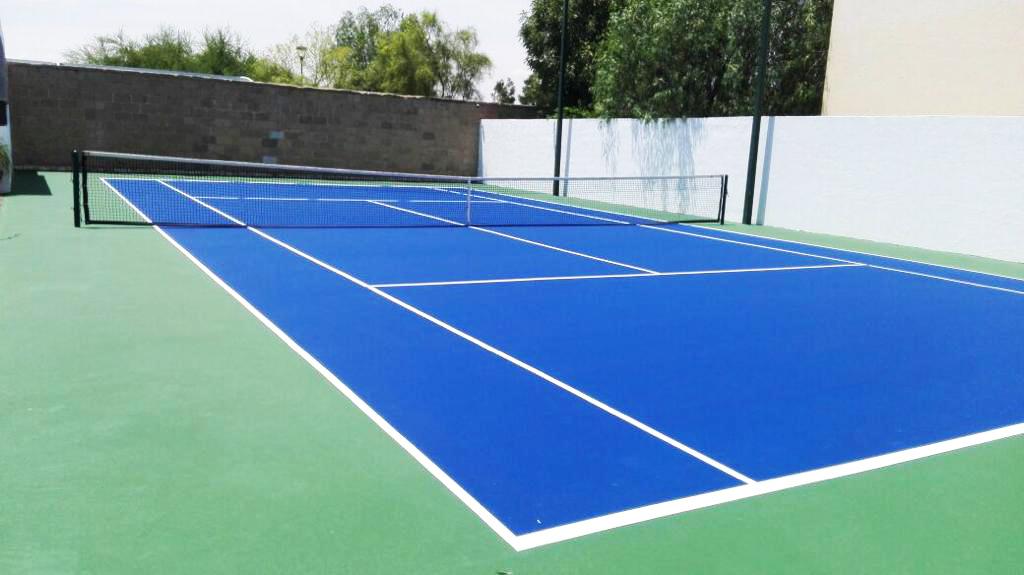 Mantenimiento cancha de tenis